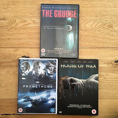 Prometheus, The Grudge & House of Wax DVD Bundle