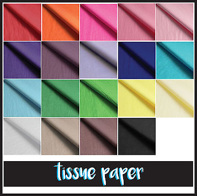 TISSUE PAPER SHEETS GIFT PRESENT WRAPPING PARTY ACID FREE ARTS CRAFTS  50x75cm