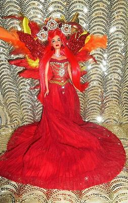 Phoenix Fire Bird ~ Mythological Creature barbie doll ooak Greek sun