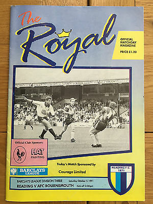 Reading V's AFC Bournemouth 05.10.1991