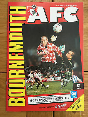 AFC Bournemouth Vs Exeter City 06.03.1993