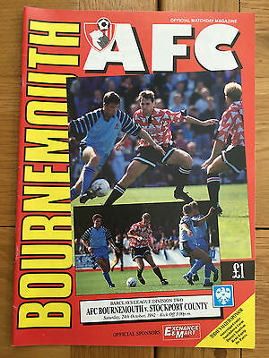 AFC Bournemouth Vs Stockport County 24.10.1992