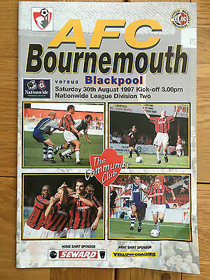 AFC Bournemouth Vs Blackpool 30.08.1997