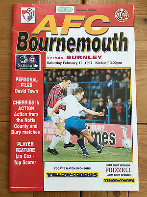 AFC Bournemouth Vs Burnley 15.02.1997