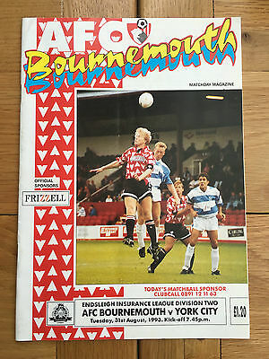 AFC Bournemouth Vs York City 31.08.1993