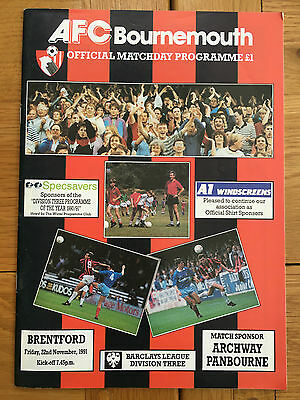 AFC Bournemouth Vs Brentford 22.11.1991
