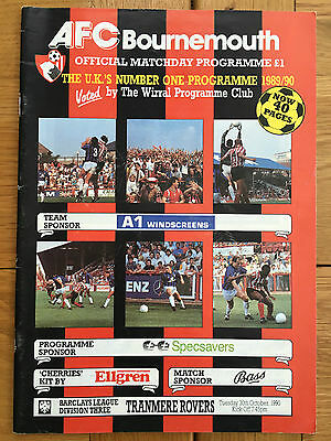 AFC Bournemouth Vs Tranmere Rovers 30.10.1990