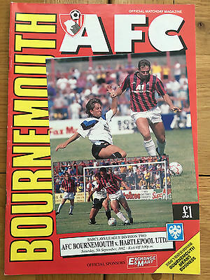 AFC Bournemouth Vs Hartlepool United 05.09.1992