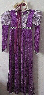 Girls M Renaissance Queen Medieval Purple Dress Rapunzel Costume Halloween VGUC