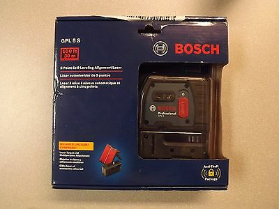 New! Bosch 5 Point Self-Leveling Alignment Laser GPL 5 S