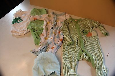 Newborn Girl Set/5 Clothing Outfit Onsie Unisex Boy Gymboree Gerber Blue Green