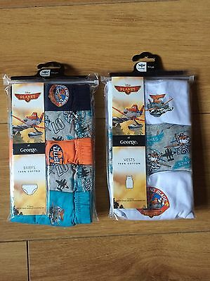 Disney Planes Briefs And Vests New Age 5-6 Years