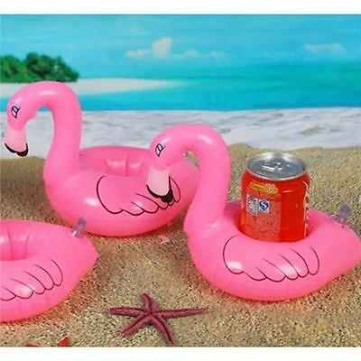 3x Inflatable Mini Flamingo Floating Drink Holder Hot Tub Pool Bath Accessory T