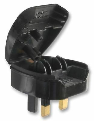POWERCONNECTIONS  - Euro 2 Pin to UK 3 Pin Converter Plug, 5A Black