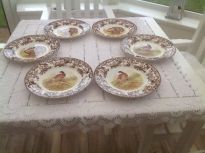"Set of 6 Spode Woodland 10.5""Dinner Plates (Boxed)"