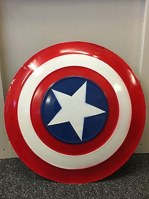 60cm Actual Size CAPTAIN AMERICA METAL SHIELD THE FILM TELEVISION PROPS Cosplay