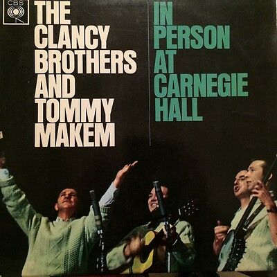 """The Clancy Brothers and Tommy Makem """"In Person at Carnegie Hall"""" - Vinyl LP 1963"""