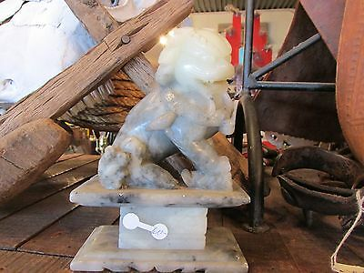 Antique Chinese soapstone carving Foo lion or dog