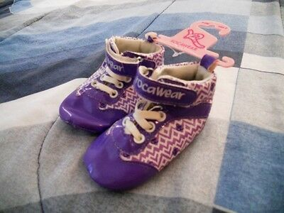 RocaWear NEW 9 - 12 Months Crib / Infant Baby Shoes Purple High Tops Boys Girls
