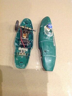 Scalextric Vintage Vanwall big head in green original for restore as pictured