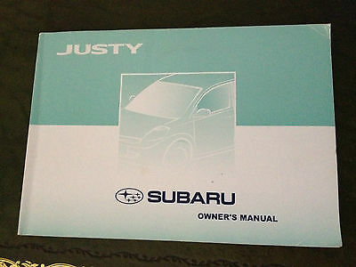 Subaru Justy Owners Manual Handbook 2006 2010