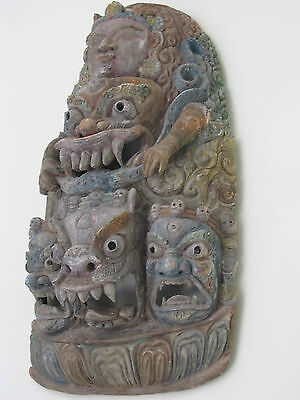 Antique Tibetan or Nepalese Buddha Mask