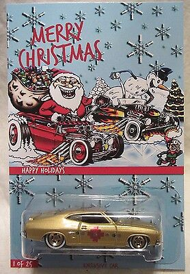 "Hot Wheels CUSTOM FORD FALCON XB ""Happy Holidays"" Real Riders Rubber Wheels Coll"