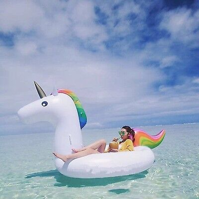 Unicorn Mounts Floating Bed Giant Inflatable River Floats Raft PVC 275*140*12...
