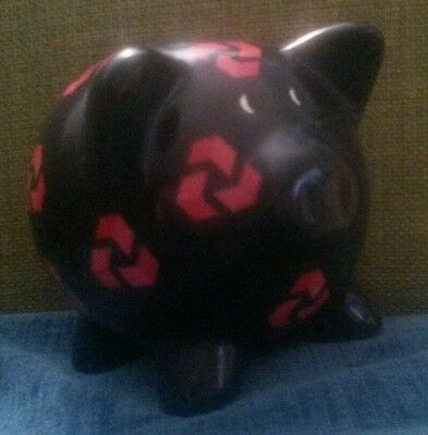 Dark Blue Piggy Bank Pig Money Box Natwest Advertising Collectable
