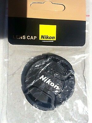 52mm Center Pinch Snap-On Front Cover Lens Cap For Nikon Camera LC-52 New