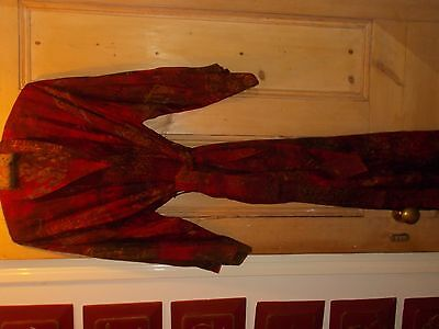 Beautiful Long Dressing Gown Vintage Amazing Colours Vgc.large