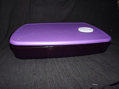 Tupperware - Rock N Serve - Microwave 3-Section Vented Lid  Container ~ Purple