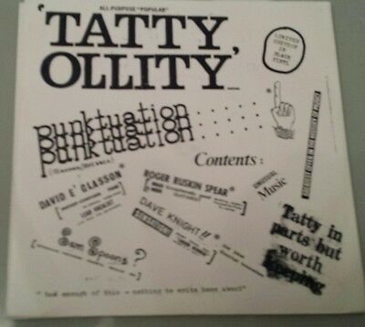 "TATTY OLLITY  Punktuation Rare 7"" with Pic Sleeve,  Rare Punk/New Wave"