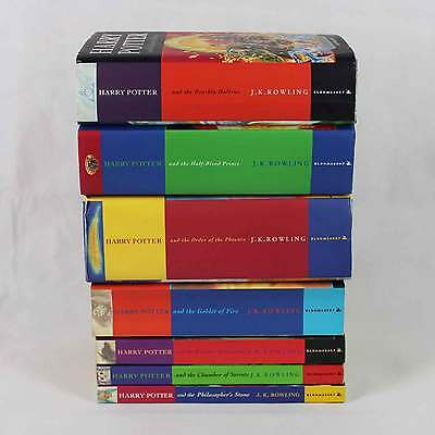 Complete Harry Potter 7 Book Set - Including 3 First Edition Hardback Books
