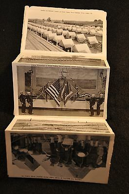Wwi Us Navy Training Station Great Lakes, Ill Souvenir 20 Picture Fold Out Type