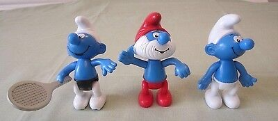 The Smurfs -  Mcdonalds figures three Papa and friends (see photos)