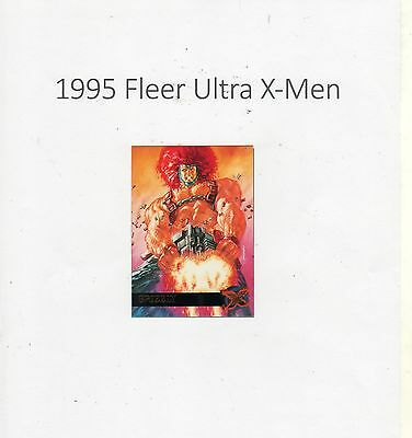 1995 Fleer Ultra X-Men Trading Card #22 Grizzly