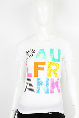 Paul Frank -MEDIUM- $29 White Text TEE Paul Frank Funky Letters T-Shirt NWT MED