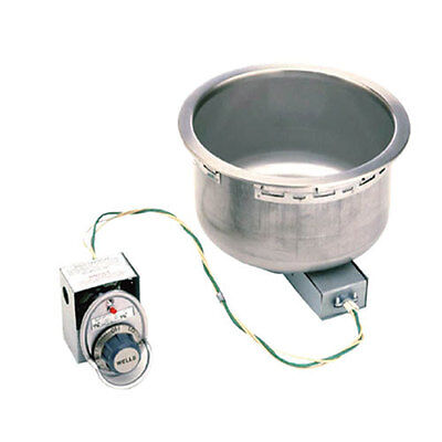 Wells SS-10D Built-In 11 Qt. Hot Food Well w/ Infinite Control & Drain