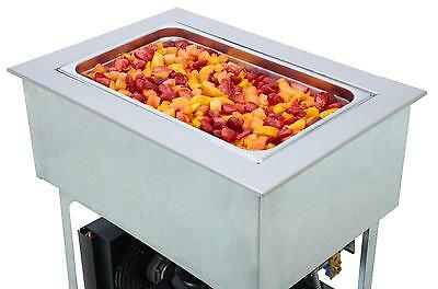 """Wells RCP-600 Built-In Six - 12"""" x 20"""" Bay Refrigerated Cold Food Well"""