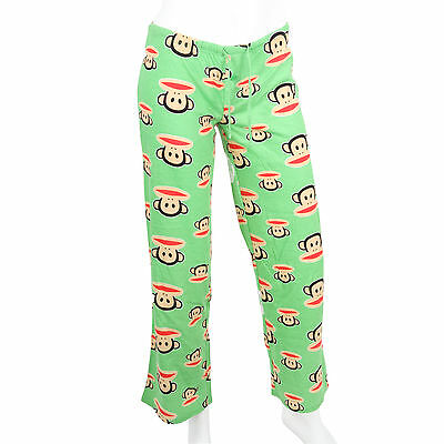 Paul Frank Julius Friends Extra Small $47 Green Julius Cotton Sleep PJ Pants NWT