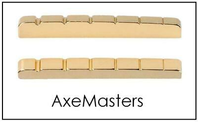 "USA MADE AxeMasters 43mm / 1 11/16"" BRASS NUT made for Fender Guitar Gold Color"
