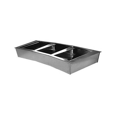 Wells CICP-4 4 Well Curved Non-Refrigerated Drop-in Cold Food Unit