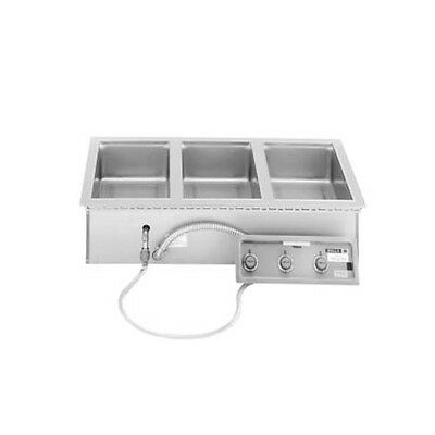 Wells MOD-327TDM/AF (3) 4/3 Pan Built-in Top Mount Food Warmer