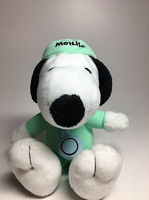 MetLife Snoopy Peanuts  Surgeon Doctor Scrubs Stethoscope Plush Doll EUC