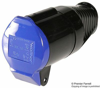 WALTHER - 16A 240V Industrial Connector - IP44 Black