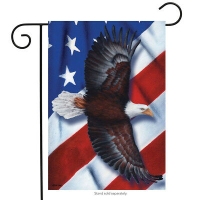PATRIOTIC EAGLE FOURTH of July Garden Flag Soaring USA 12.5