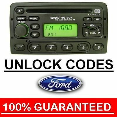 Ford Radio Code Unlock For M series Codes 3000 4000 5000 6000 6006 7000 RDS