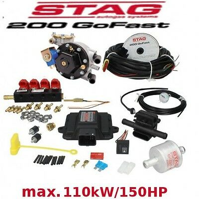 Autogas Conversion kit for 4 cylinders STAG 200 GoFast 110 kW/150 HP LPG Front