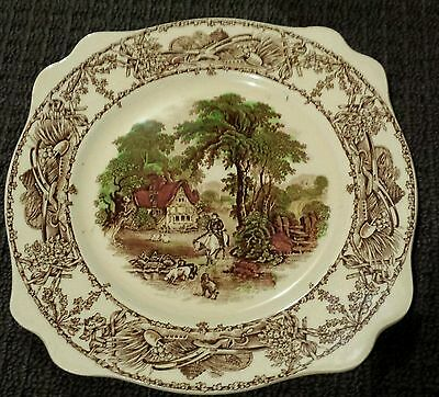 Rural Scenes plate. Royal Staffordshire Pottery. A.J Wilkinson. Campsie Sydney